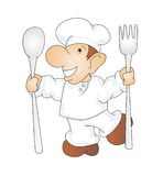 Chef. Illustration of a cook on a white background Stock Images