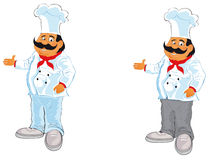 Chef. Vector illustration shows a cook in a chef's hat royalty free illustration