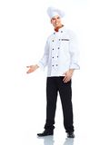 Chef. Man. Isolated over white background Stock Image