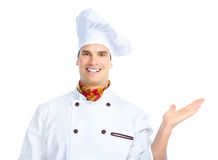 Chef. Man. Isolated over white background Royalty Free Stock Image
