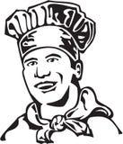 Chef. Line Art Illustration of a Chef vector illustration