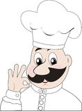Chef. Winking cook giving the okay sign Stock Photo