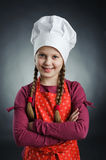 Chef. An image of a nice girl in white hat stock image