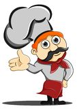 Chef. Illustration of a chef who invited Royalty Free Stock Photo