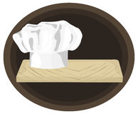 Chef. Is hand drawn original artwork. The vector file is in AI-EPS8 format Royalty Free Stock Photo