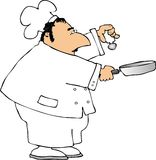 Chef. This illustration depicts a chef Royalty Free Stock Photo
