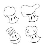 Chef. Four chef logos on white Royalty Free Stock Images