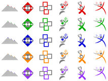 Chef and Abstract Squares Vector Logo Designs Royalty Free Stock Photos