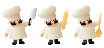 Chef in Action Royalty Free Stock Photography