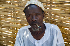 Chef africain de village Images libres de droits