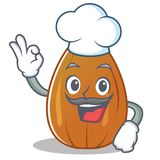 Chef almond nut character cartoon Royalty Free Stock Image