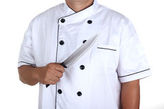 Chef anf knife Royalty Free Stock Images