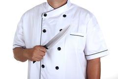 Chef anf Messer Lizenzfreie Stockbilder
