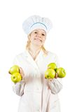 Chef with apples Stock Photos