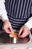 Chef arrange vegetables Stock Photos