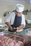 Chef At Butcher Royalty Free Stock Image