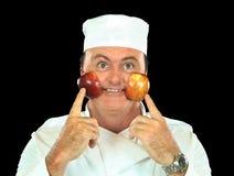 Chef attrayant de Cheeked Apple Photo stock