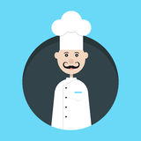 Chef avatar in dark circle Royalty Free Stock Photography