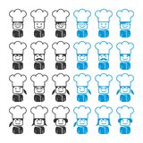 Chef avatar portrait picture icon Stock Photos