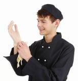 Chef avec des gants photo libre de droits