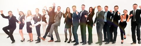 Chef avec l'équipe créative d'affaires Images stock