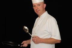 Chef avec la cuillère Image stock