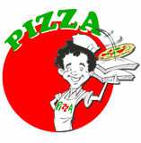 Chef avec la pizza Photos stock