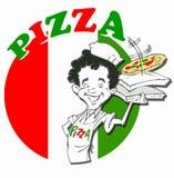 Chef avec la pizza Photographie stock libre de droits