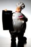 Chef avec le panneau de carte Image stock