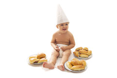 Chef baby Stock Photo