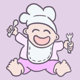 Chef baby Royalty Free Stock Images