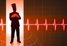 Chef on background with pulse Stock Images