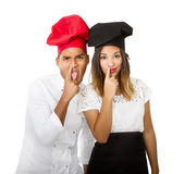 Chef bad faces Royalty Free Stock Images