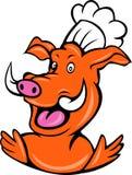 Chef baker wild pig boar hog Royalty Free Stock Photo
