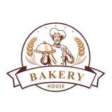 Chef Bakery Shop Logo, Sign, Template, Emblem, Vector Design. Icon royalty free illustration