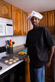 Chef Baking Cookies Royalty Free Stock Photos