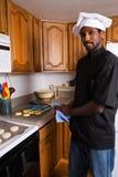 Chef Baking Cookies Stock Photo