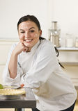 Chef Baking Pie Royalty Free Stock Photography