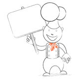 Chef with a banner Stock Images
