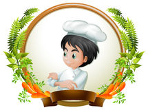 Chef and banner Royalty Free Stock Photography