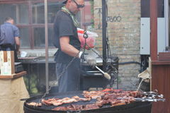 Chef at the barbecue Royalty Free Stock Images