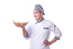 The chef with a basket of eggs. Chef with a basket of eggs Stock Photos