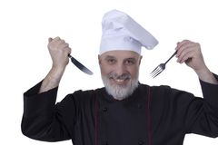 Chef with a beard Royalty Free Stock Images