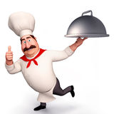 Chef with big bowl Royalty Free Stock Photo