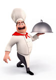 Chef with big bowl Stock Photo