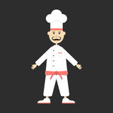 Chef  on black background Stock Photography