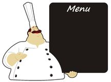 Chef with board Royalty Free Stock Image