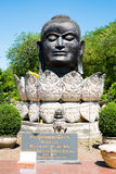 Chef Bouddha Thaïlande Ayuthaya photographie stock