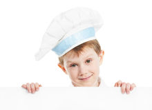 Chef boy with blank billboard Royalty Free Stock Photo