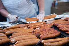 Chef Bratwursts Stock Images